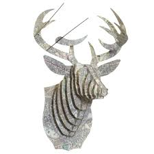 bucky london medium deer wall trophy cardboard safari