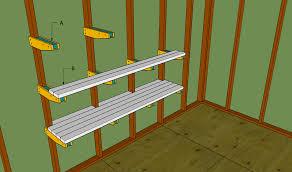 furniture custom diy wood wall mounted garage storage shelves