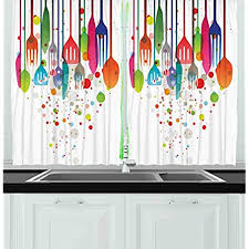 Colorful Kitchen Curtains Unique Aliexpress Buy 1 Piece Colorful Graffiti  Sheer Curtains For . Decorating Design