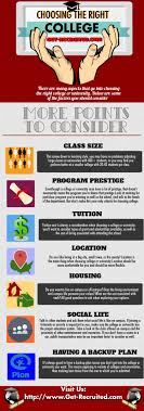 choosing the right college ly choosing the right college infographic