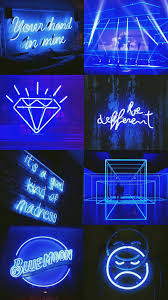 Dark blue wallpaper, Neon wallpaper ...