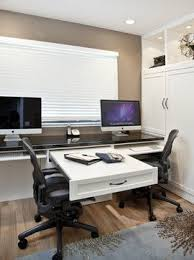 two person desk home office. Two Person Desk Design For Your Wonderful Home Office Area | Wall Beds, Custom Cabinetry And Tilt C