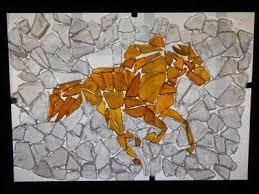 horse jockey sea glass art