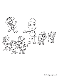 Free Coloring Pages Of Paw Patrol Cat Zuma Paw Coloring Page
