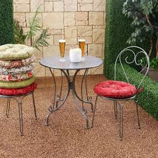 round multiple bistro chair cushions for interesting patio chair design