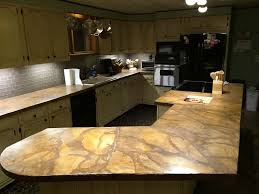 stained concrete countertops cost