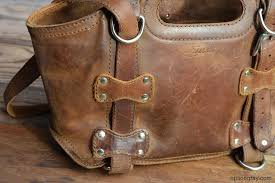 saddleback leather purse waiting to be cleaned