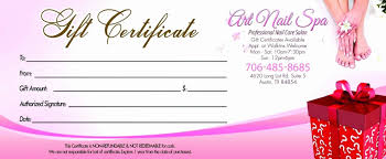 Gift Certificate Printable Free Nail Gift Certificate Template Free Cumed Org