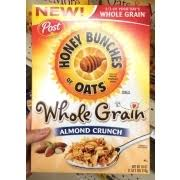photo of post honey bunches of oats whole grain almond crunch