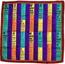 Karl Lagerfeld Size Chart Karl Lagerfeld Multi Color Silk Letter Chart Design Scarf Wrap