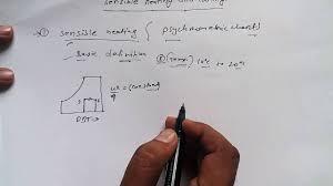 Sensible Cooling Psychrometric Chart Sensible Heating And Sensible Cooling Rac Tutorial 17