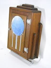 art deco medicine cabinet. Art Deco Medicine Cabinet Antique Mahogany Chrome Mirror Wall Throughout Pinterest