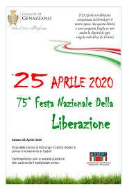 25 APRILE 2020 75° Festa Nazionale della Liberazione - Comune di Genazzano