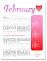 february newsletter template free february newsletter template by worddraw com