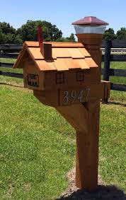 mailbox. Large-Cedar-Mailbox-and-6x6-post Mailbox L