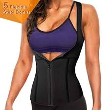 5 Steel Boned Zipper Waist Trainer Corset Neoprene Sauna Sweat Vest For Women Weight Loss Slimming Hot Body Shaper