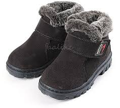 product images gallery fashion new girls boys winter warm boots kids children cotton leather