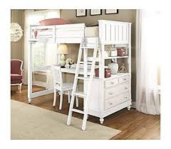 Cheap bunk beds with desks Loft Bunk Image Unavailable Amazoncom Amazoncom Ne Kids Twin Loft Bed With Desk Kitchen Dining
