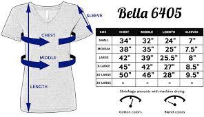 Bella Canvas T Shirt Size Chart Size Chart