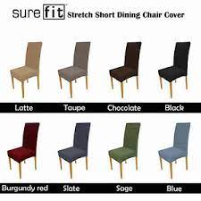 Sure fit long dining chair slipcover sail cloth color: Color Choice Surefit Stretch Short Corduroy Dining Chair Cover Machine Washable Ebay