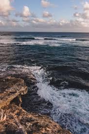 wave, waves, deep blue ocean ...