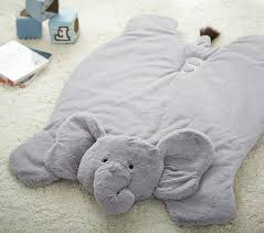 elephant plush play mat
