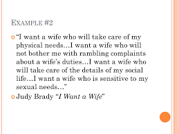 "modes project definition ppt video online  11 example 2 ""i want a wife"