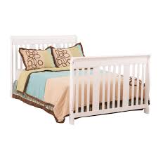 stork craft portofino 4 in 1 fixed side convertible crib changer in white free