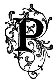 P Floral Initial Clipart Etc