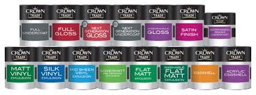 Crown Trade Colour Collection Colour Chart Crown Trade Paint Suppliers Bailey Paints Ltd