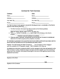 Free Painting Contract Template Painting Contracts Templates 32