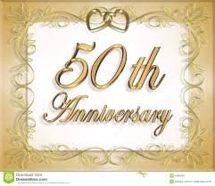 50th Wedding Anniversary Card Stock Illustration Illustration Of
