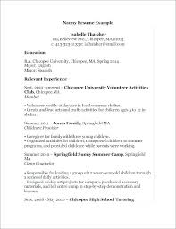Nanny Resume Sample Unique Nanny Resume Objective Sample Together With Nanny Objective Resume