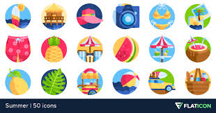 Summer Icons Summer 50 Premium Icons Svg Eps Psd Png Files