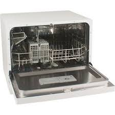 1 of 11free portable countertop dishwasher white compact tabletop mini dish washer machine