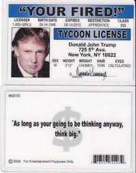 Plastic York Donald Ca President Trump I New d Fake Id