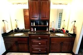 countertop vanity tower bathroom vanity towers double with center tower cabinet linen plans cabinets home improvement countertop vanity tower