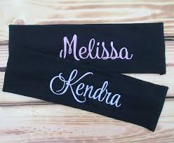 personalized name headband custom embroidered headband sports headband birthday gifts personalized gifts