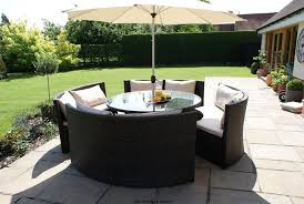 outdoor dining sets round table eeieeio outdoor round dining table setting 5 chairs 1 table