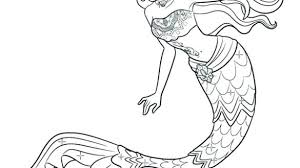 Mermaid Coloring Pages For Adults Free Printable Colouring Cute Baby