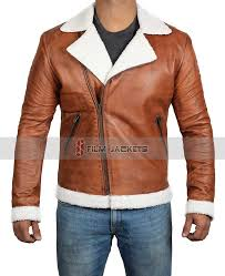 faux shearling biker jacket brown leather shearling motorcycle jacket