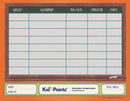 Completed Assignments Chart Homework Chart Kid Pointz