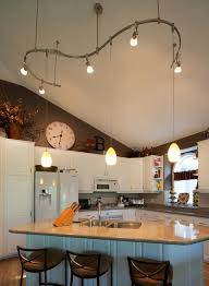sloped ceiling lighting ideas track lighting. incredible perfect track lighting on sloped ceiling kitchen vaulted amazing ideas withokcom