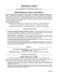 Sample Resume For Hotel Assistant General Manager New Restaurant Gm