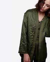 Quilted Kimono Wrap Jacket | Kimonos, Satin kimono and Kimono style & Quilted Kimono Wrap Jacket Adamdwight.com