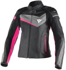 dainese veloster las jacket leather clothing jackets motorcycle black grey pink dainese gloves