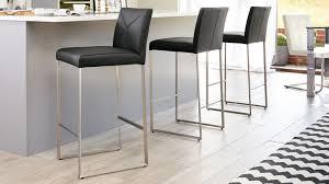 black leather bar stools