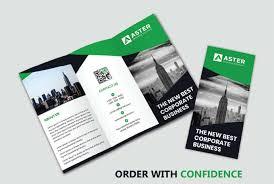Design A Modern Trifold Brochure