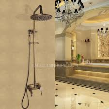 Copper shower fixtures Mixer Faucetsinhome Antique Copper Shower Faucet System With Hand Held Shower