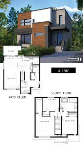 House Design Photos With Floor Plan Two Storey Modern Cubic House Plan With Pantry Laundry Room
